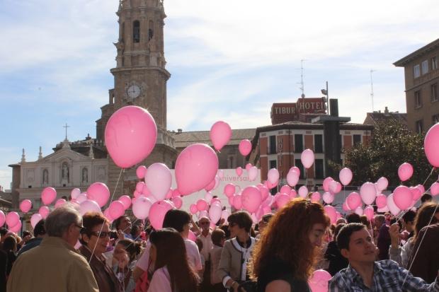 Momento en el que arrancaba la jornada de actividades en la Plaza del Pilar, Zaragoza.